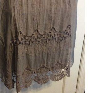 Nieole Dresses - Nieole silk tee shirt Dress
